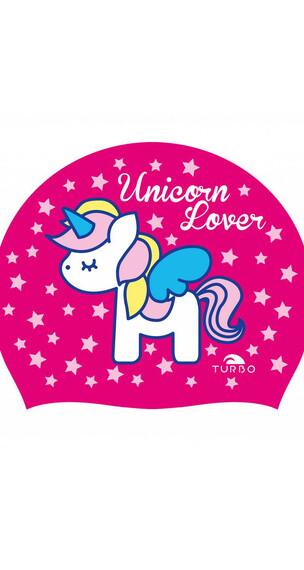 Turbo Unicorn Love Swimming Cap Fuchsia
